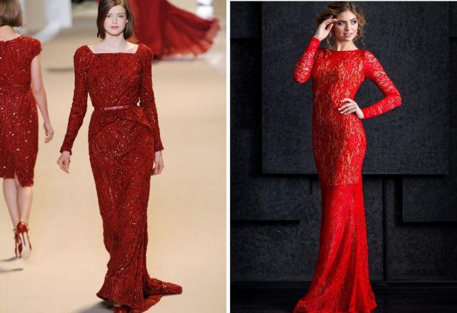 красное платье на новый год 8