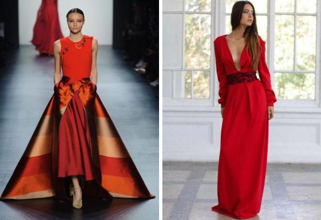 красное платье на новый год 9