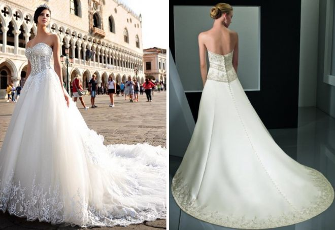 свадебные платья с корсетом 13