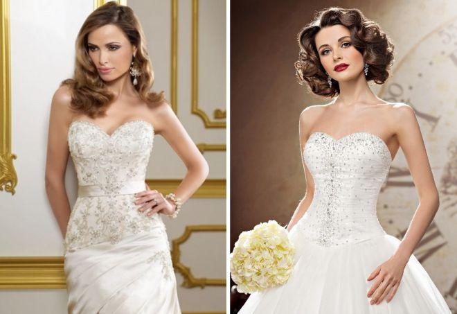 свадебные платья с корсетом 2