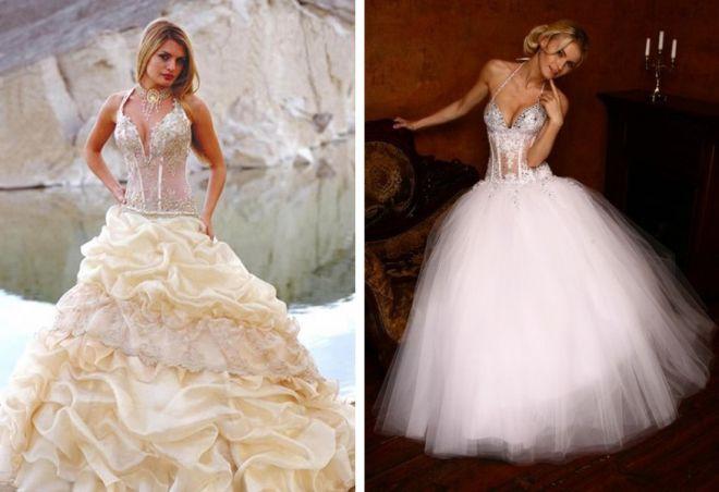 свадебные платья с корсетом 7