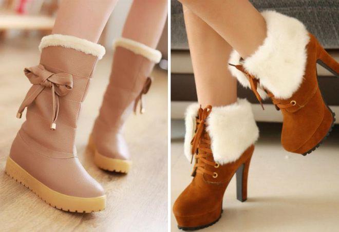 5849d78f9911 Самая теплая модная и стильная женская зимняя обувь
