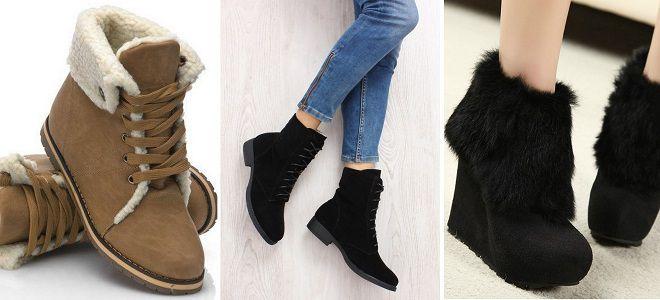 303b7e107 Зимние женские ботинки на меху – кожаные и замшевые, на платформе и ...