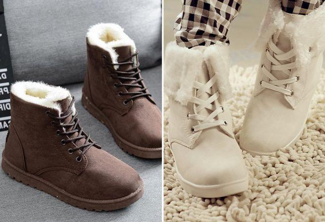 b75877e1 Зимние женские ботинки на меху – кожаные и замшевые, на платформе и ...