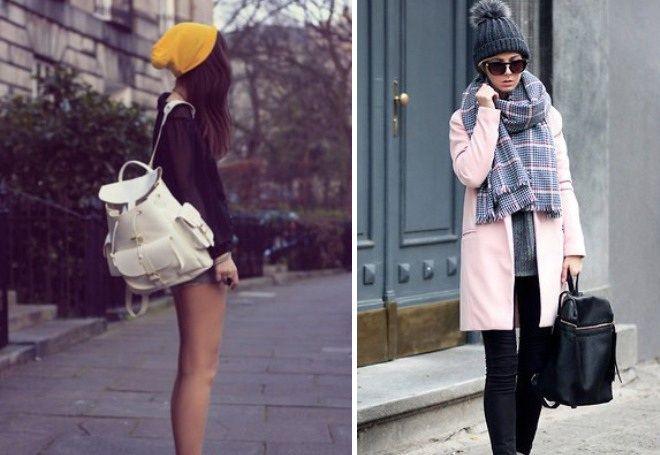 8388480aeeef Кожаный рюкзак - модные цветные модели, рюкзак-сумка, стильные ...