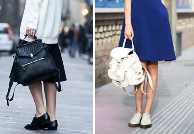 4356b85d1f1b Кожаный рюкзак - модные цветные модели, рюкзак-сумка, стильные ...