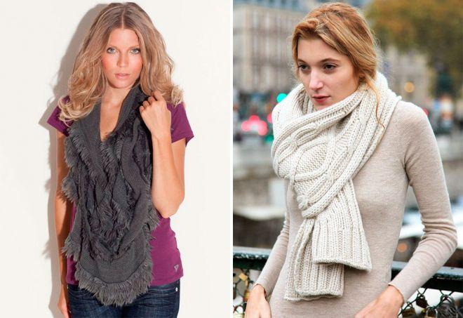 5bf416bed5fa Модные женские вязаные шарфы – красивые снуды, оригинальные манишки