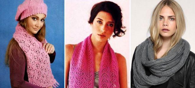 модные женские вязаные шарфы красивые снуды оригинальные манишки