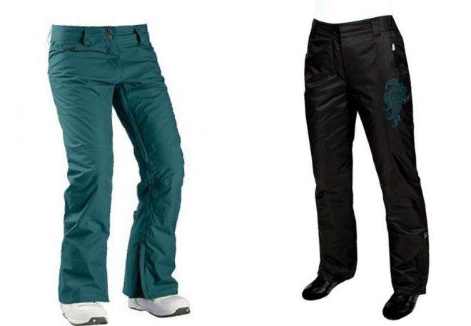 женские утепленные брюки1