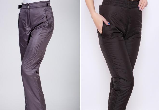 женские утепленные брюки4
