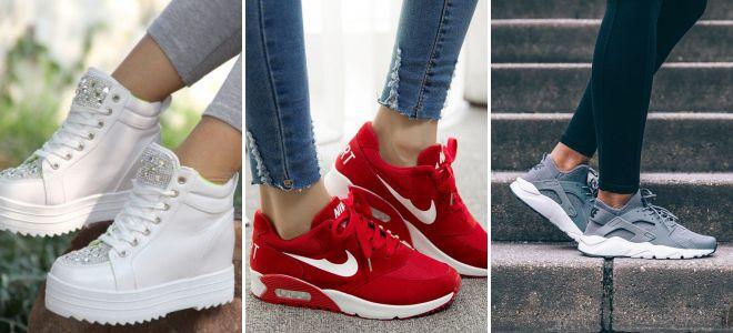 Модные женские кроссовки 2017 – Найк, Адидас, Рибок, Пума b28c0d458da
