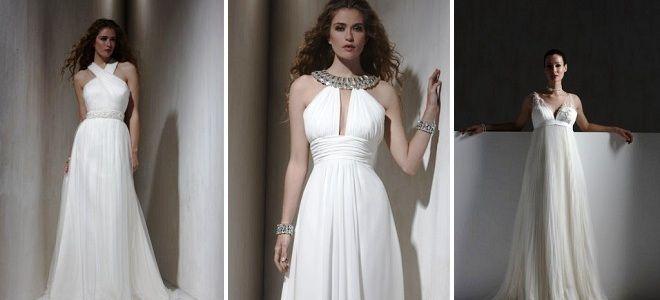 греческое свадебное платье