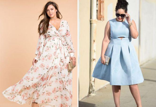 c77114e830292a4 Модные красивые платья для полных – вечерние и повседневные ...