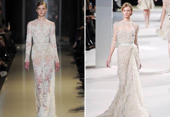 белые кружевные вечерние платья