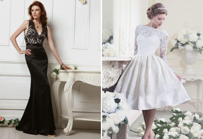 красивые кружевные вечерние платья