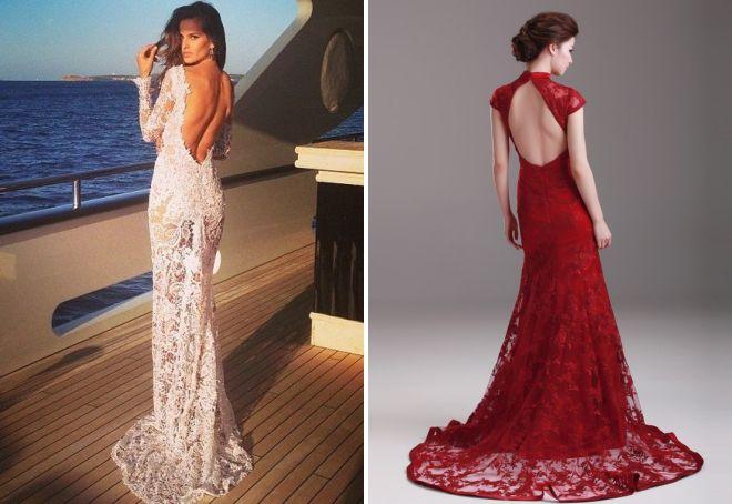 5e40413213c Длинные и короткие вечерние платья с открытой спиной – черные