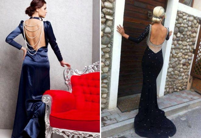 вечернее кружевное платье с открытой спиной