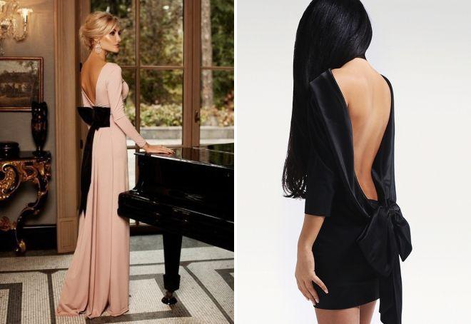 красивые вечерние платья с открытой спиной