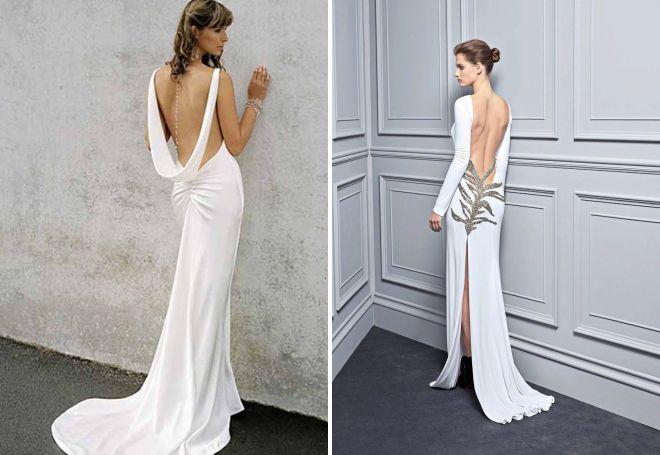 вечерние платья в пол с открытой спиной