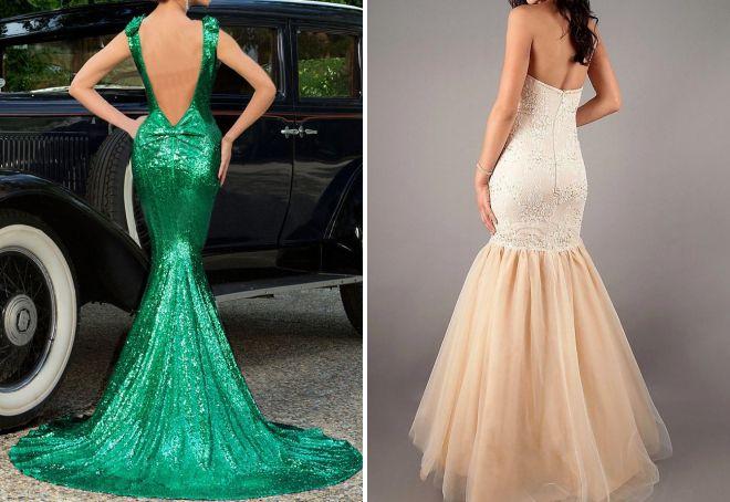стильное платье с открытой спиной на выход