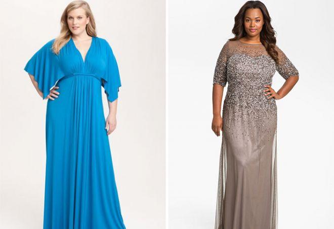 ef4e1426331d23a Нарядные вечерние платья для полных женщин и девушек – самые ...
