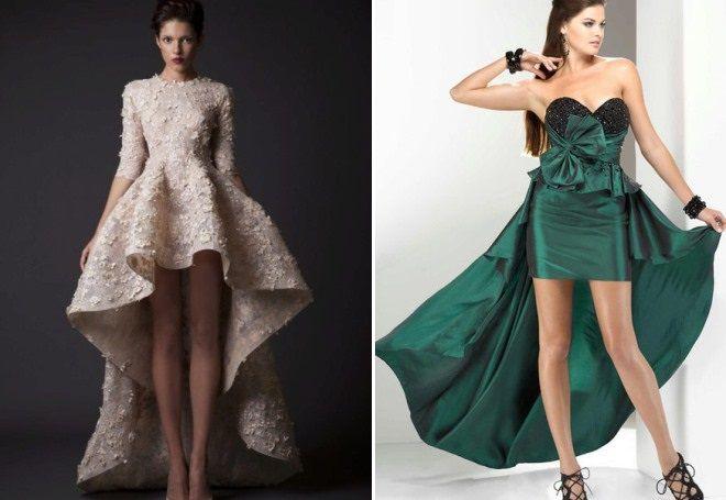 вечернее платье в пол со шлейфом