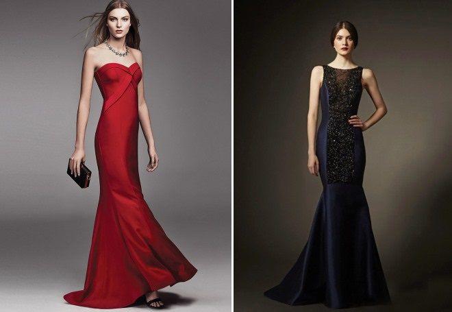длинные вечерние платья со шлейфом