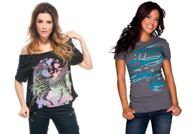 e77d63dc37ce7 Модные женские футболки – спортивные поло и красивые со стразами ...