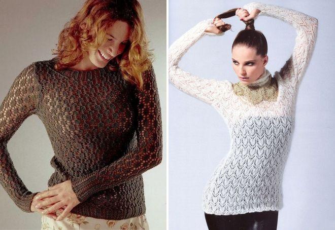модные вязаные джемпера для женщин