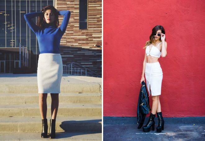 с чем носить белую юбку карандаш