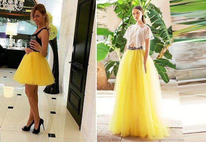 желтые пышные юбки