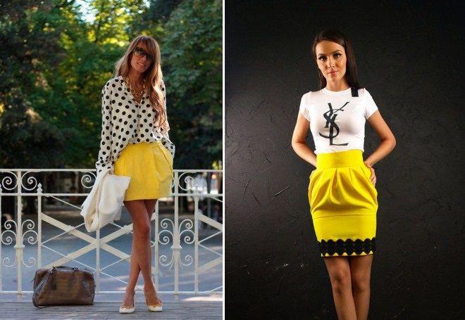образы с желтой юбкой