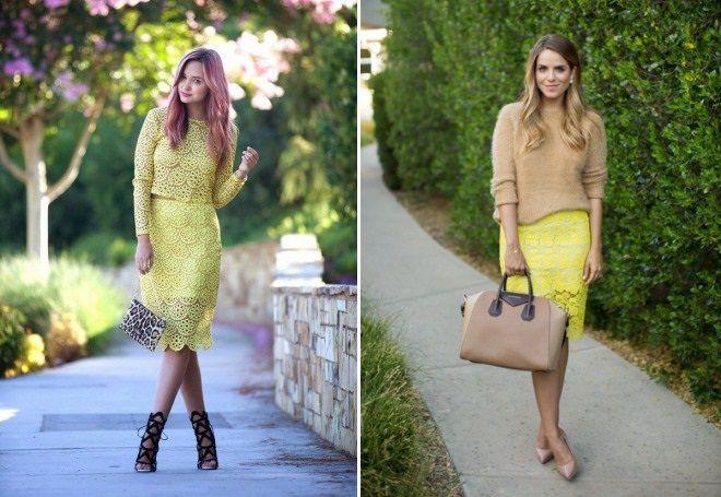 девушка в желтой юбке