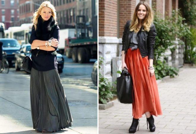 красивые длинные юбки
