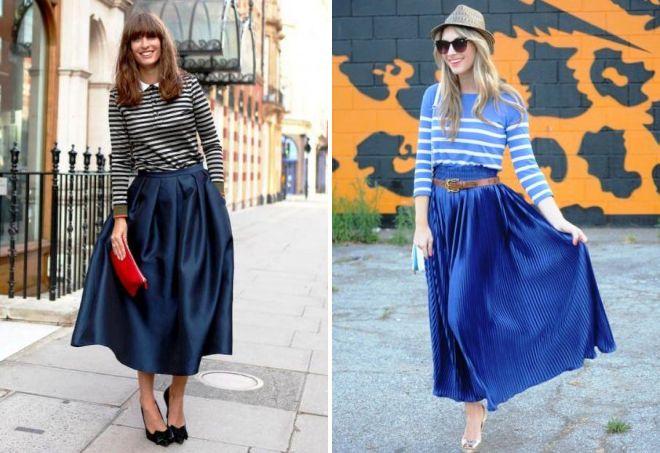 модные длинные юбки