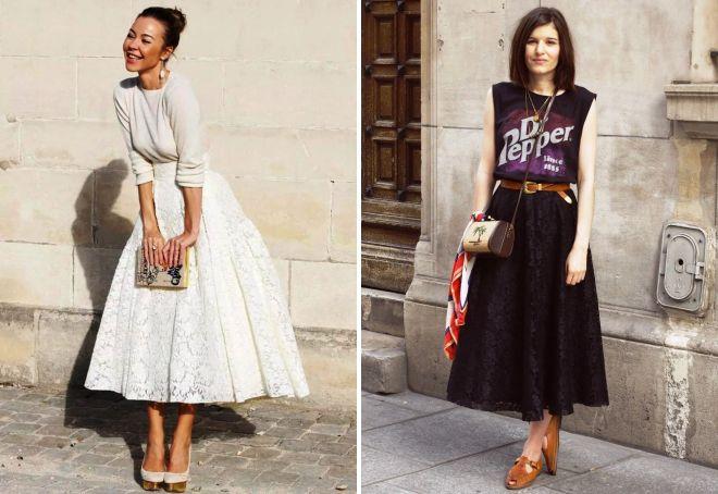 стильные длинные юбки