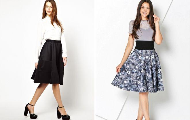 черная трикотажная юбка