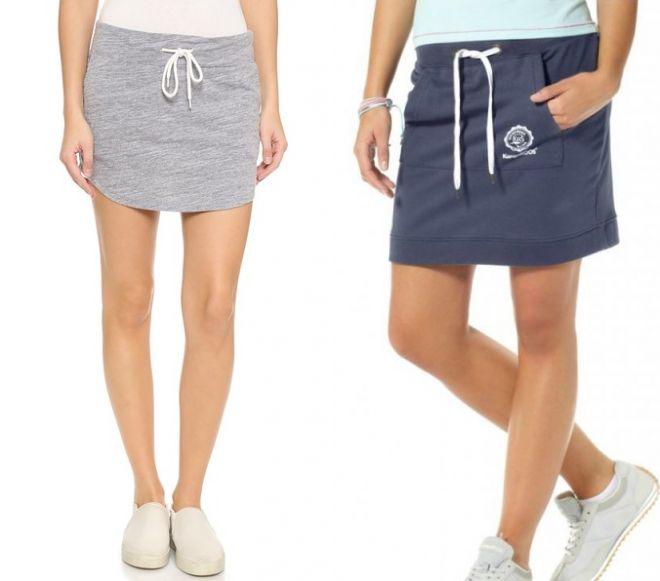 прямые трикотажные юбки