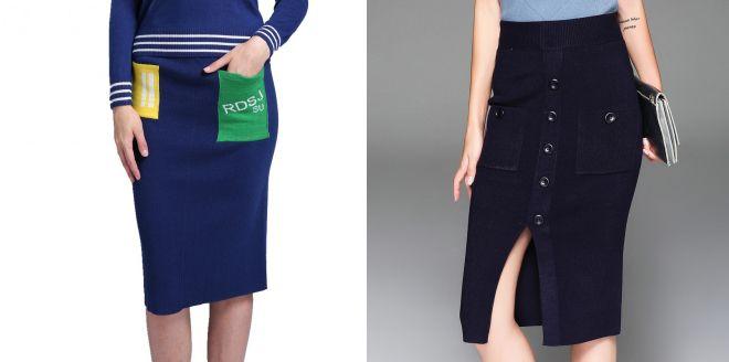 модные трикотажные юбки