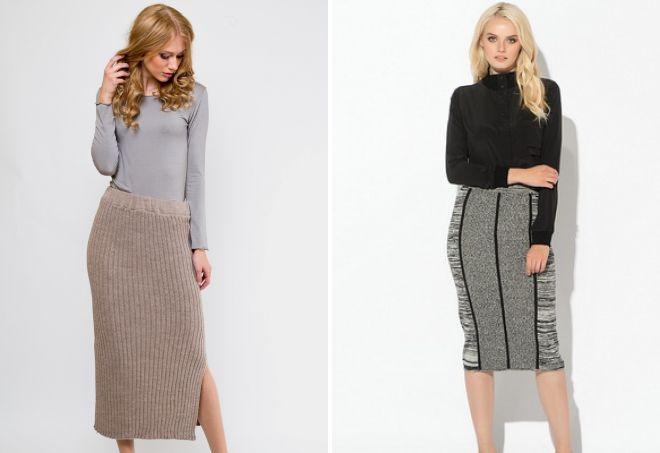 трикотажные короткие юбки