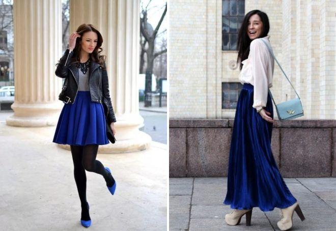 образ с синей юбкой