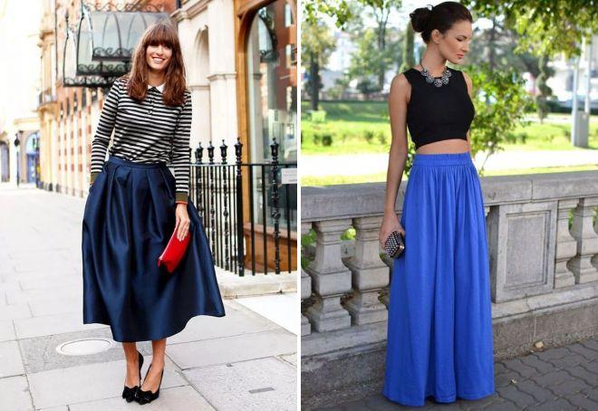 юбки синего цвета