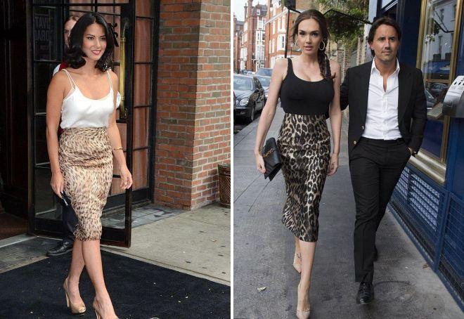 юбки с леопардовым принтом