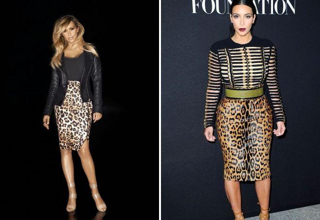 модная леопардовая юбка