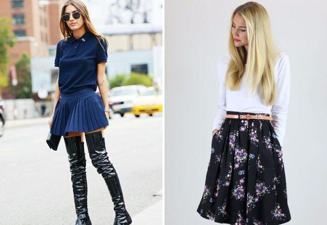 стильная трикотажная юбка плиссе