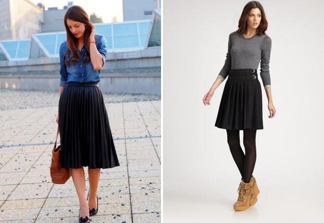 a113df6a3e3 Модная трикотажная юбка плиссе – с чем носить