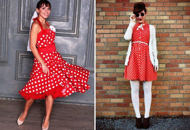 ретро платья в горошек