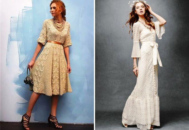 вязаное платье в стиле ретро