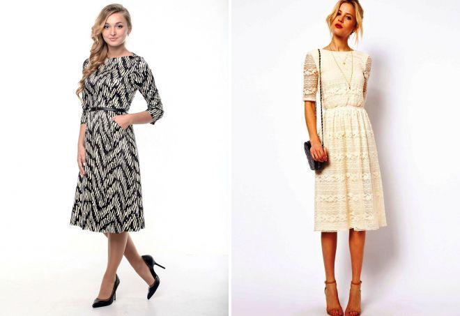 красивые платья в стиле ретро