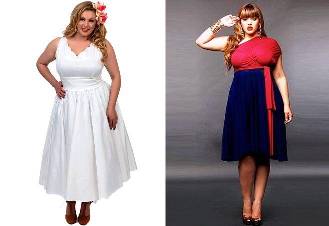 ретро платья для полных девушек